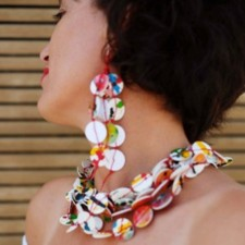 Earrings model Abstract I