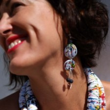 Earrings model Abstract II