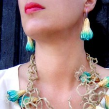 Earrings model Richtersveld Desert Namaquanum