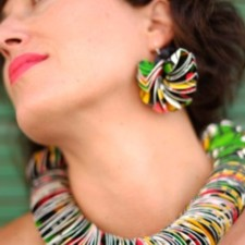 "Earrings model Disque ""Sonia Delaunay"""