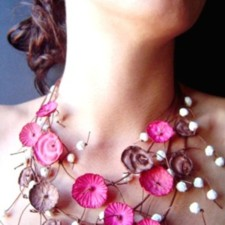 Necklace model Impressionist Gardens