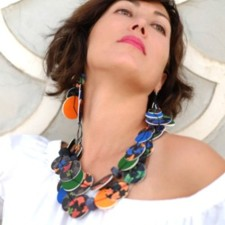 Short Necklace model Universo Alhambra, Night